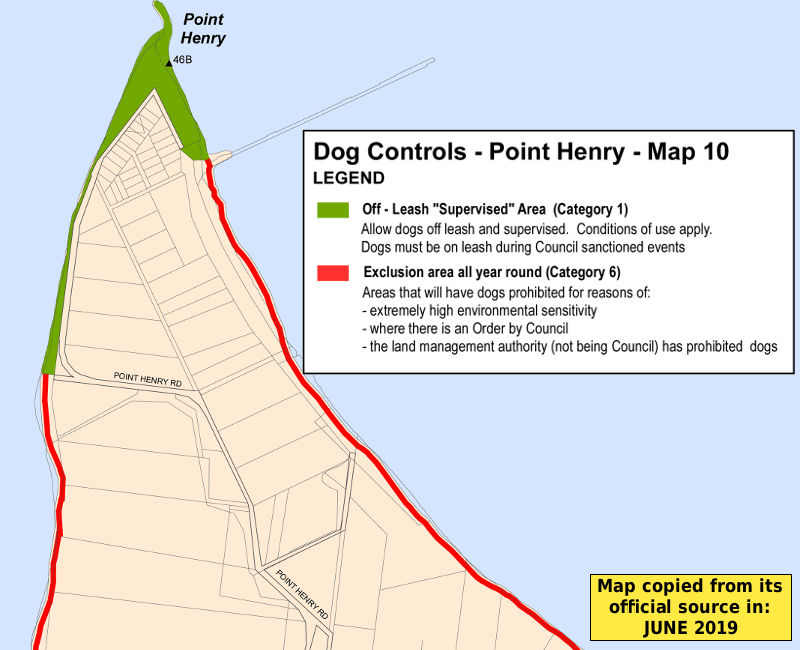 Point Henry dog beach map