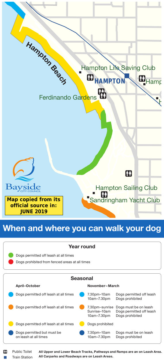 Hampton dog beach map