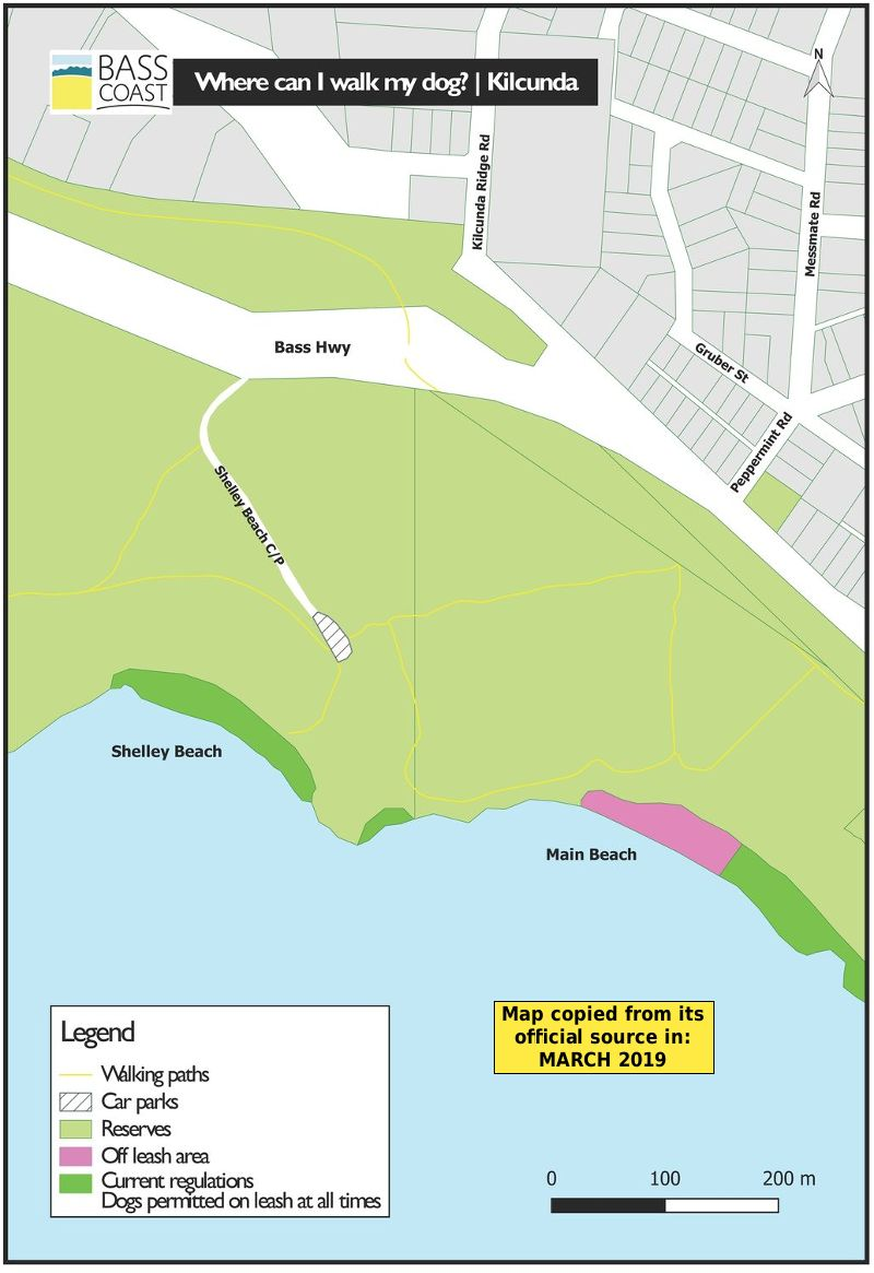 Kilcunda dog beach map