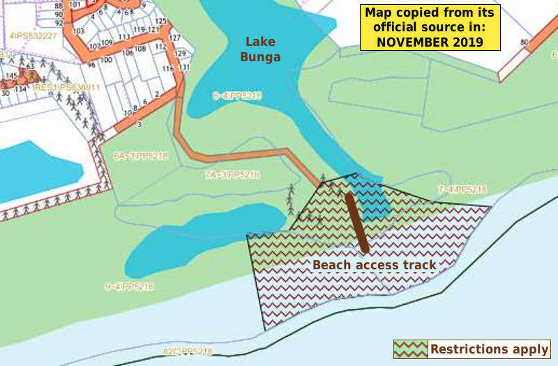 Lake Bunga dog beach map