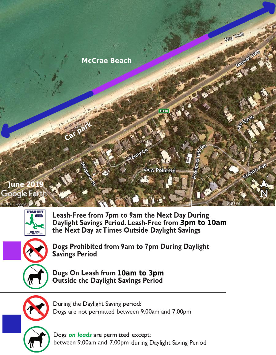 McCrae dog beach map
