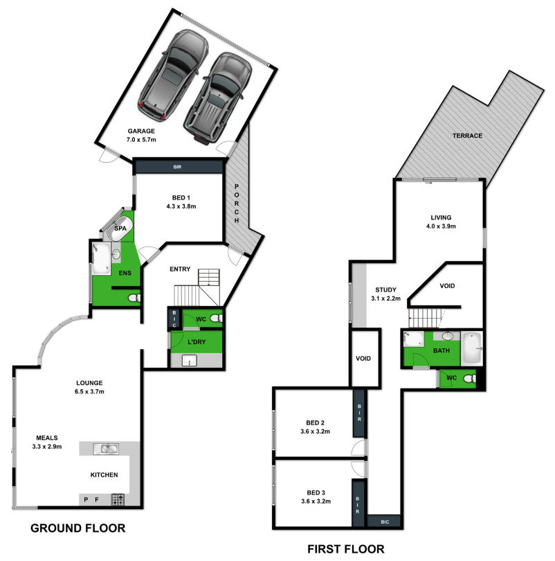 Whites Retreat - Floor plan