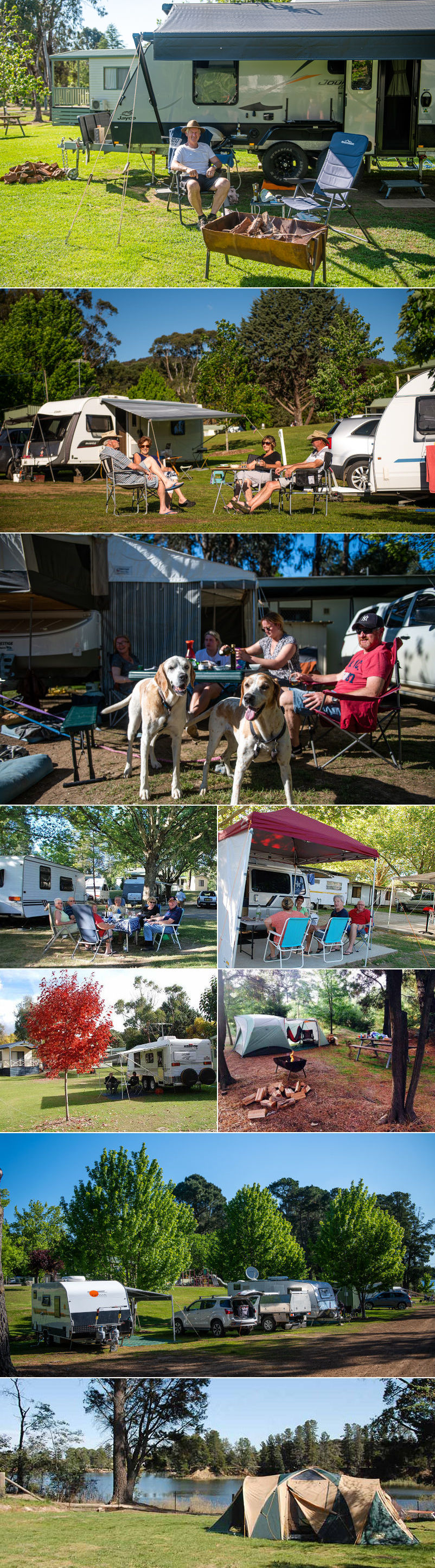 Beechworth Lake Sambell Caravan Park - sites