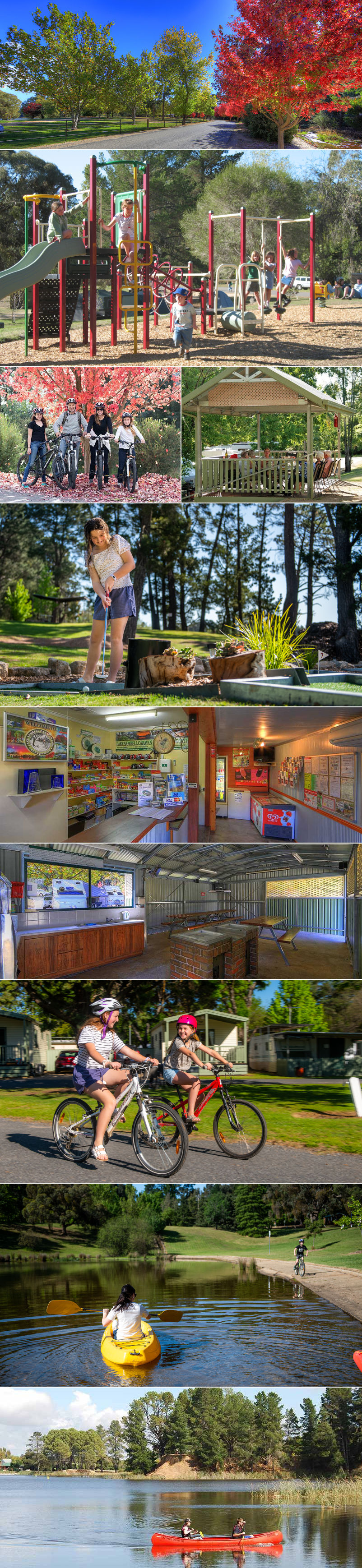 Beechworth Lake Sambell Caravan Park - grounds and facilities