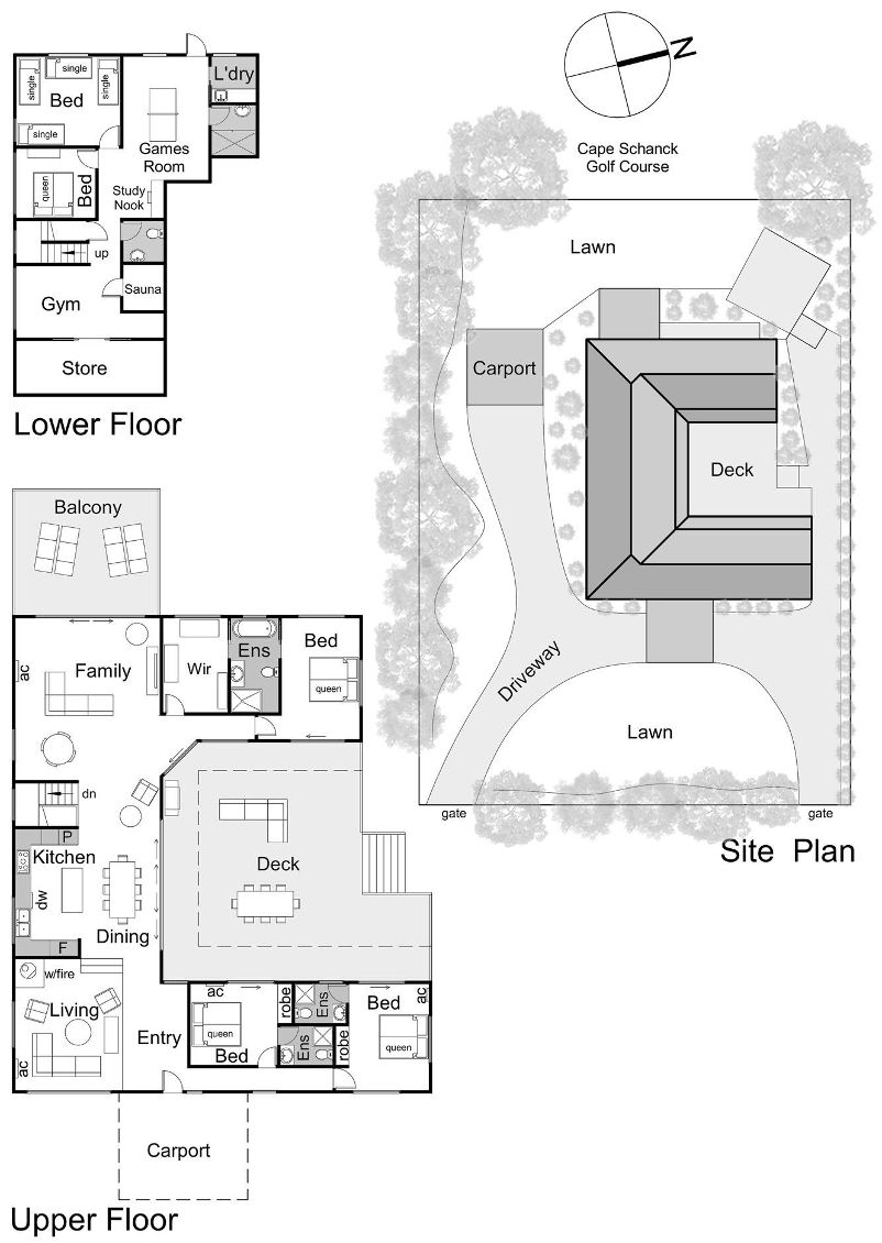 Cape House - Floor plan